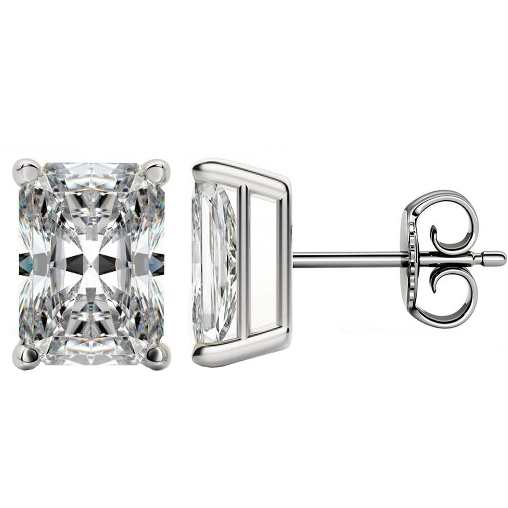 18 KARAT WHITE GOLD RADIANT. Choose From 0.25 CTW To 10.00 CTW