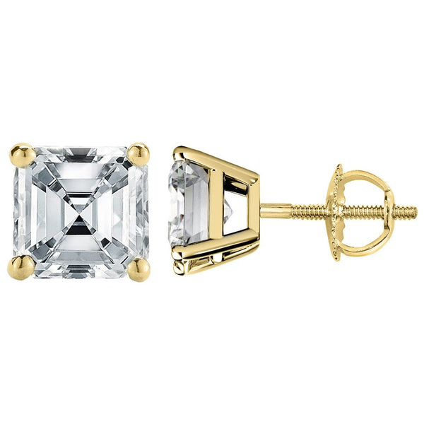 14 KARAT YELLOW GOLD ASSCHER 6.00 C.T.W