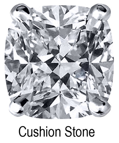 6.0mm Cushion Stone Cubic Zirconia Stone - 1.0 Carat Loose Stone