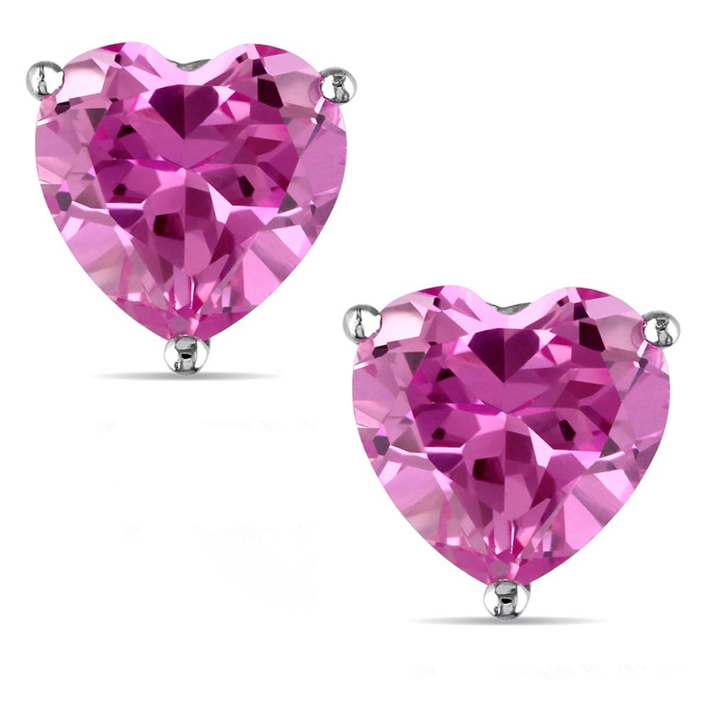 14 KARAT WHITE GOLD PINK TOURMALINE HEART. Choose From 0.25 CTW To 10.00 CTW