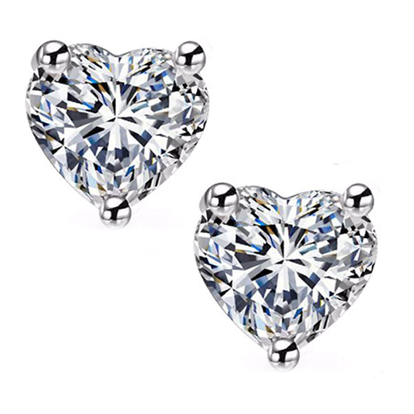 18 KARAT WHITE GOLD HEART. Choose From 0.25 CTW To 10.00 CTW