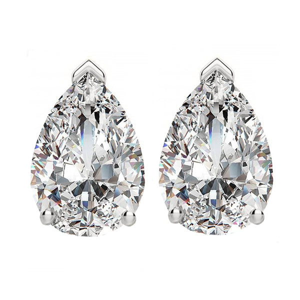 14 KARAT WHITE GOLD PEAR 0.50 C.T.W