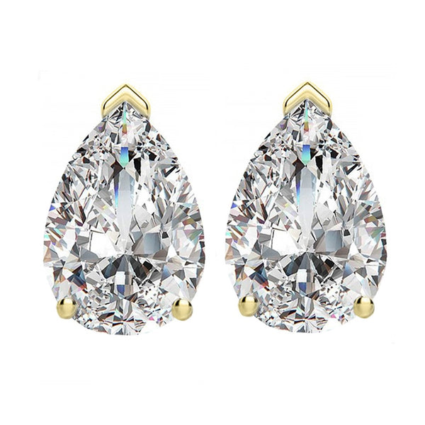 14 KARAT YELLOW GOLD PEAR 0.75 C.T.W