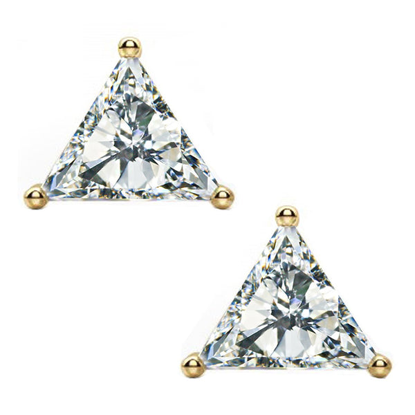 14 KARAT YELLOW GOLD TRIANGLE 7.00 C.T.W