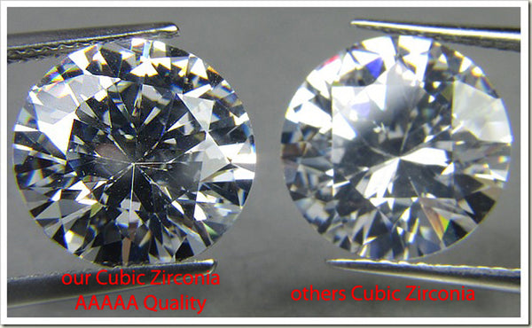 11mm x 11mm Heart Stone Cubic Zirconia Stone -  5.0 Carat Loose Stone.