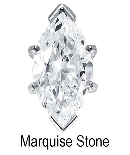 8mm x 4mm Marquise Stone Cubic Zirconia Stone - 0.50 Carat Loose Stone