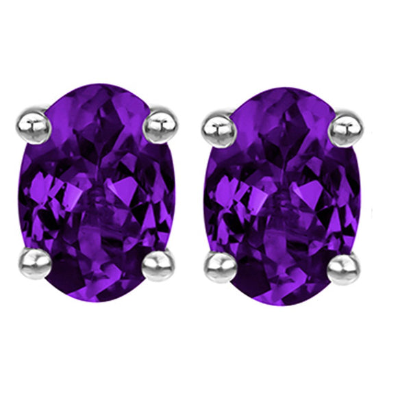 14 KARAT WHITE GOLD AMETHYST OVAL. Choose From 0.25 CTW To 10.00 CTW