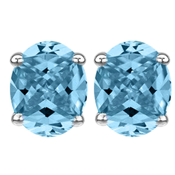 14 KARAT WHITE GOLD AQUAMARINE OVAL. Choose From 0.25 CTW To 10.00 CTW