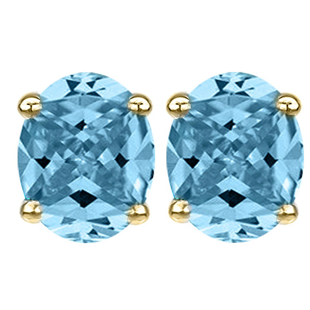 14 KARAT YELLOW GOLD AQUAMARINE OVAL. Choose From 0.25 CTW To 10.00 CTW