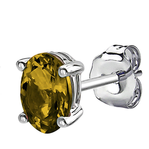 14 KARAT WHITE GOLD CITRINE OVAL. Choose From 0.25 CTW To 10.00 CTW