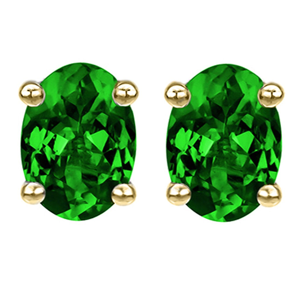 14 KARAT YELLOW GOLD EMERALD OVAL. Choose From 0.25 CTW To 10.00 CTW