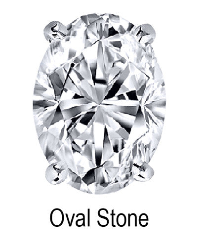 6.5mm x 4.5mm Oval Stone Cubic Zirconia Stone -  0.75 Carat Loose Stone.