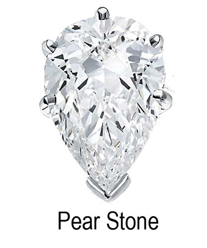 6mm x 4mm Pear Stone Cubic Zirconia Stone -  0.50 Carat Loose Stone.