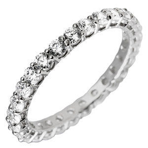 Eternity Band With Round Stones In 5.00 Carat Total Weight.