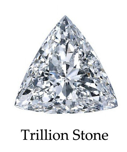 9.5mm x 9.5mm Triangle Stone Cubic Zirconia Stone -  3.5 Carat Loose Stone.