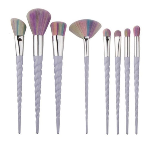 8 Pieces Unicorn Brushes., Brushes set  - MinorityBeauty