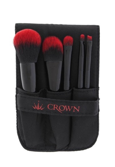 5 Pieces Travel Brushes by Crown Brushes, Brushes set  - MinorityBeauty