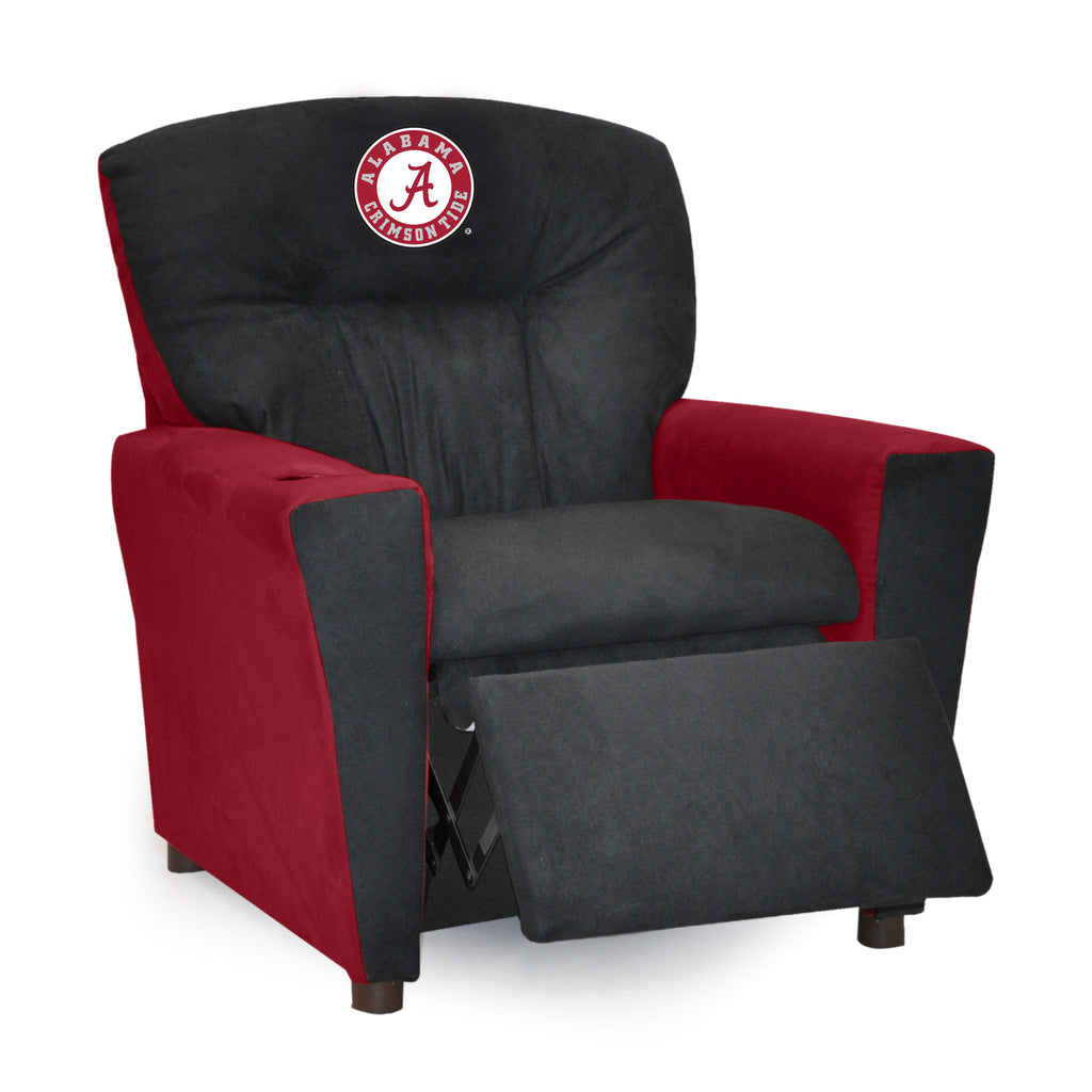 University of Alabama Kid's Two-Tone Recliner With Cup Holder