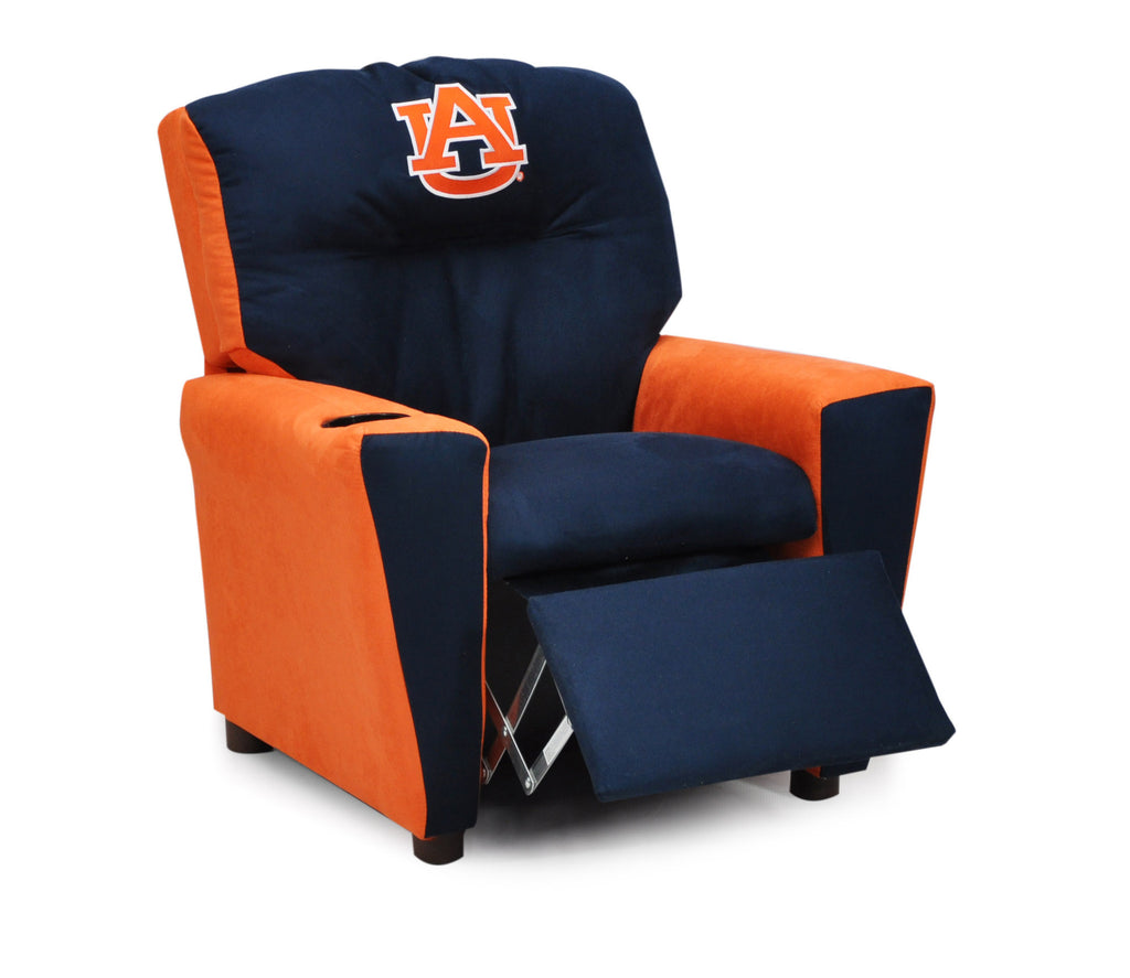 Auburn University Kid's Two-Tone Recliner With Cup Holder