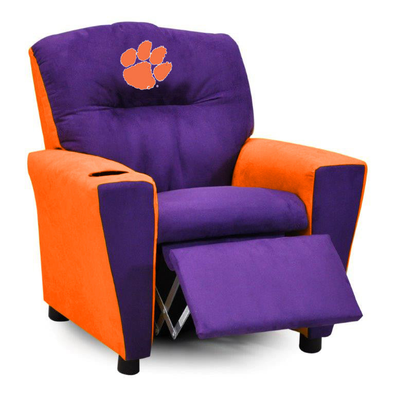 Clemson University Kid's Two-Tone Recliner With Cup Holder