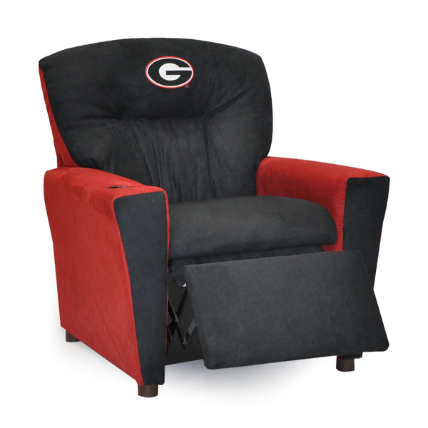 University of Georgia Kid's Two-Tone Recliner With Cup Holder