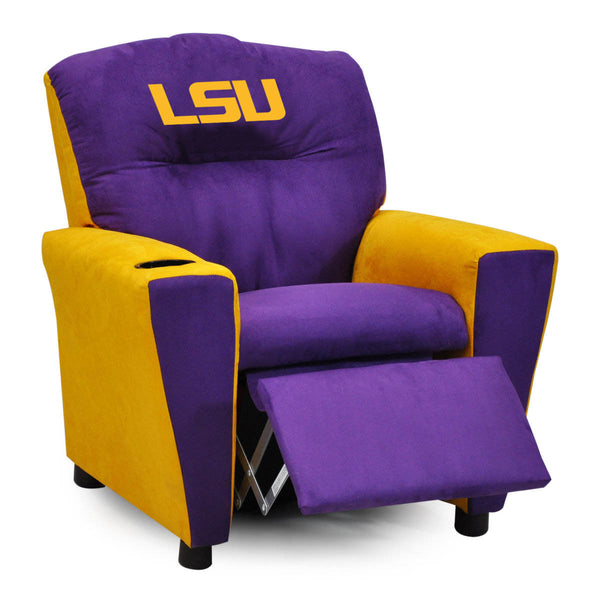 Louisiana State University Kid's Two-Tone Recliner With Cup Holder