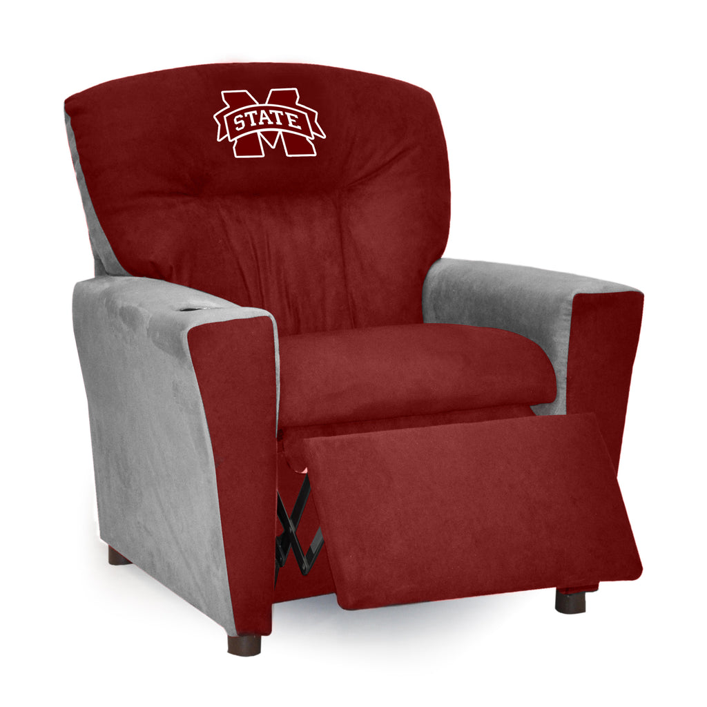 Mississippi State University Kid's Two-Tone Recliner With Cup Holder