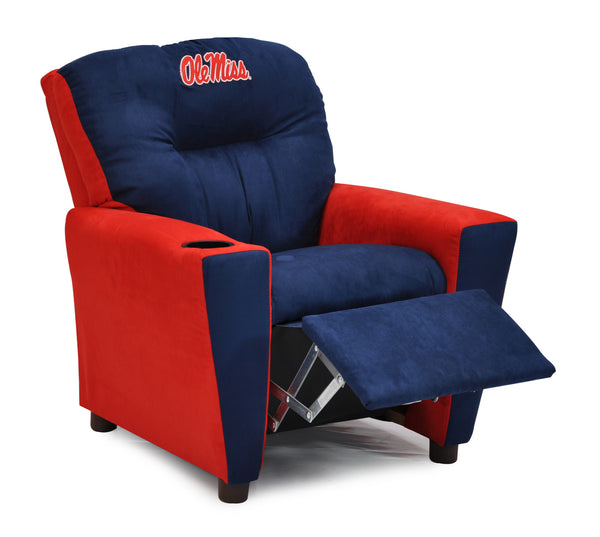 University of Mississippi (Ole Miss) Kid's Two-Tone Recliner With Cup Holder