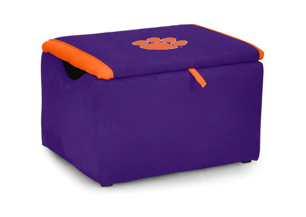 Clemson University Two-tone Storage Bench
