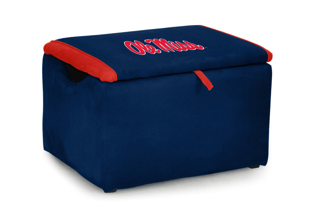 University of Mississippi (Ole Miss) Two-tone Storage Bench