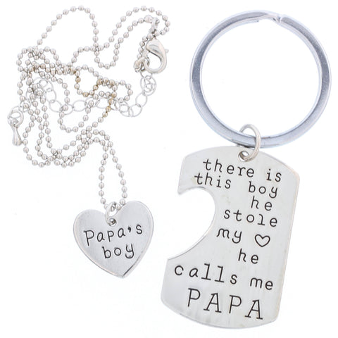 He Calls Me PAPA - Keychain + Necklace