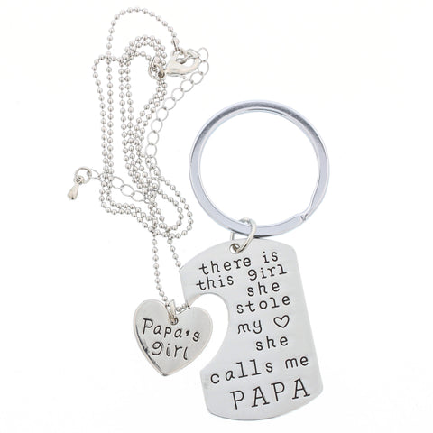 She Calls Me PAPA - Keychain + Necklace