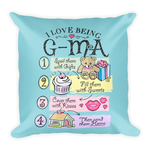 """I Love Being G-Ma"" Throw Pillow"