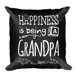 """Happiness is Being a Grandpa"" Throw Pillow"