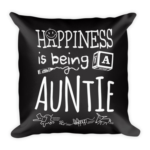 """Happiness is Being a Auntie"" Throw Pillow"
