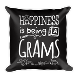 """Happiness is Being a Grams"" Throw Pillow"