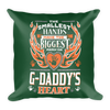 """The Smallest Hands Leave The Biggest Mark On G-Daddy's Heart"" Throw Pillow"