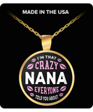 CRAZY NANA NECKLACE ~ Gold