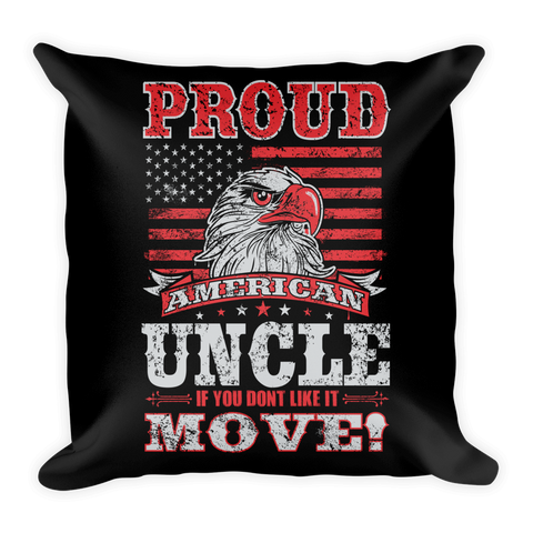 Proud American Uncle Throw Pillow