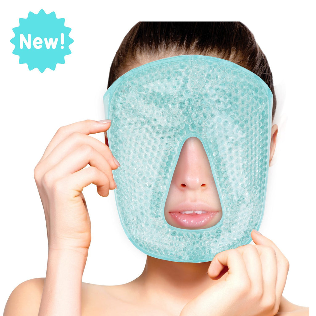 FOMI Hot Cold Gel Bead Full Facial Eye Mask | Blackout Mask - FoMI Care