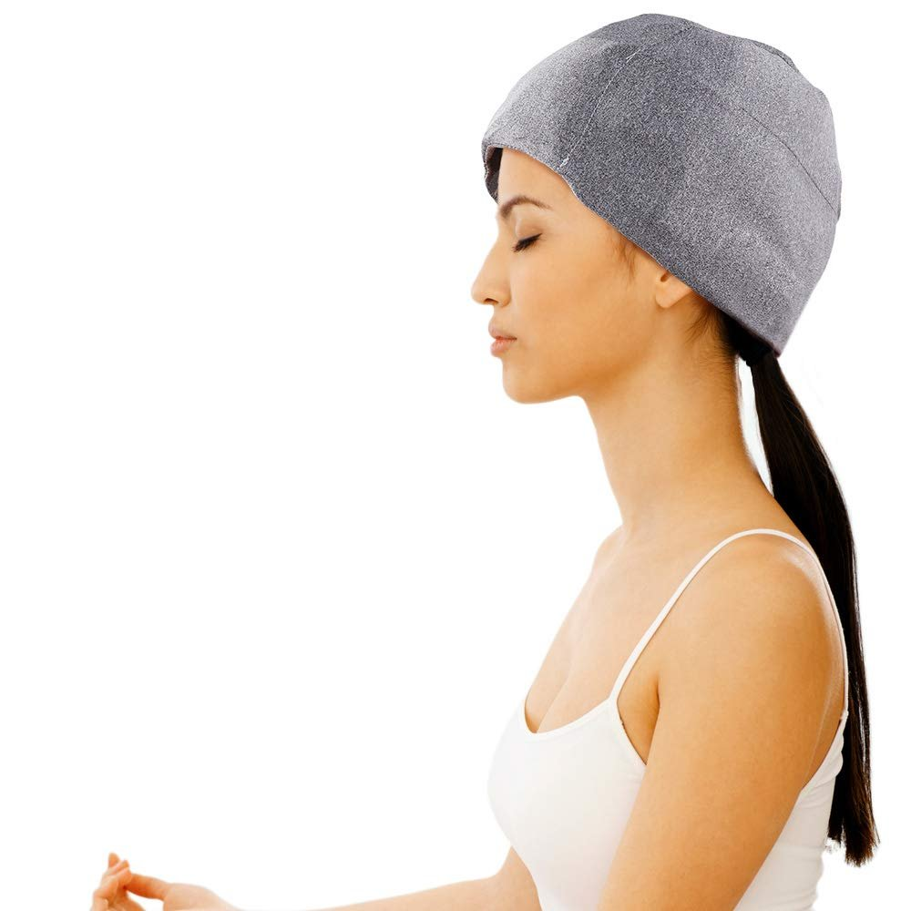 dce86661 ... FOMI Migraine Full Coverage Gel Ice Hat | Headache Relief and Chemo  Recovery Aid - FoMI ...