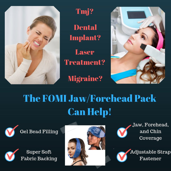FOMI Hot Cold Jaw and Forehead Ice Pack | TMJ, Wisdom Teeth, Headache Relief - FoMI Care
