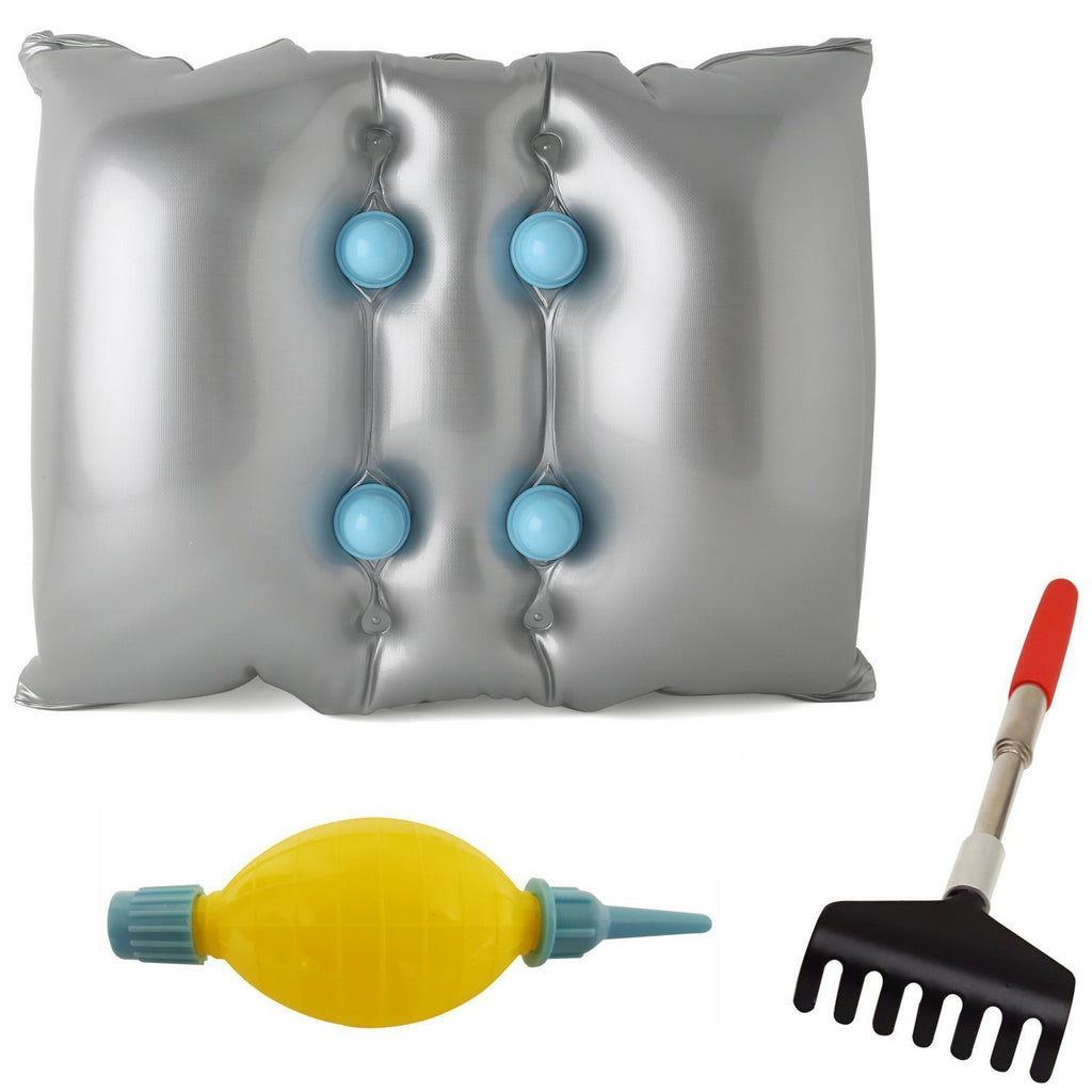 FOMI Vibrating Massage Pillow | Plus Bonus Extendable Back Scratcher - FoMI Care
