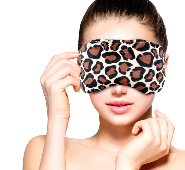 FOMI Hot Eye Mask | Clay Bead Filling, Lavender Scented, Leopard Design - Soothing Moist Heat - FoMI Care