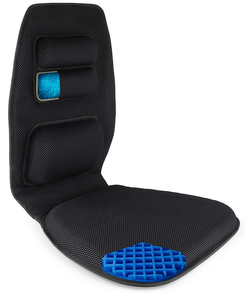 FOMI Premium Gel Seat Cushion and Back Support Combo | Promotes Healthy Posture - FoMI Care