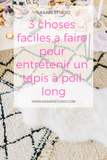 3 choses faciles pour entretenir un tapis à poil long!