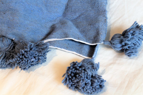 Blue Wool Blanket - kasari