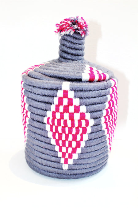 Purple / Pink Berber Basket - kasari