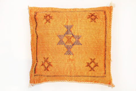 Orange Sabra Pillow - kasari