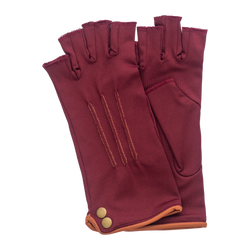 Bordeaux and Camel fingerless gloves